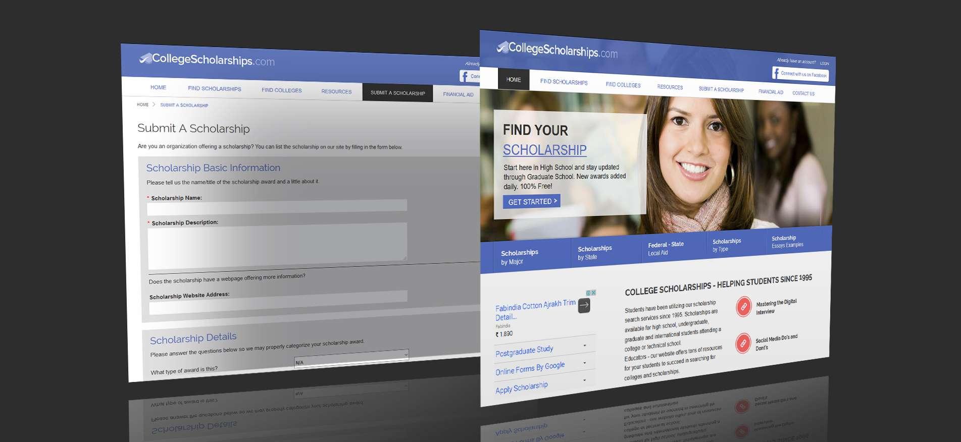 College Scholarship Web App Development Vt Netzwelt