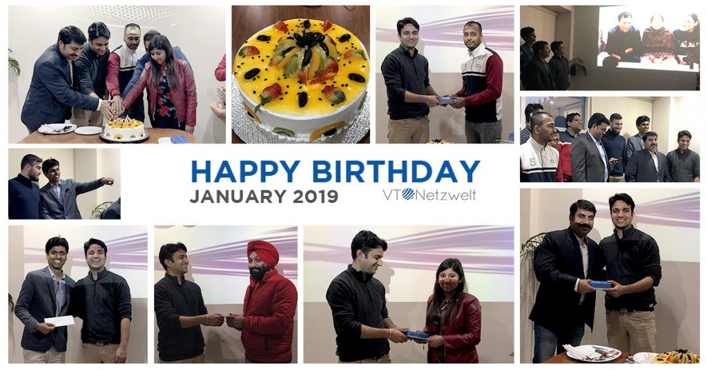 Team Birthday's celebrations January 2019